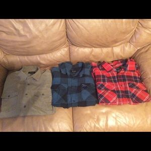 (3) Brixton long sleeve Button Downs like new